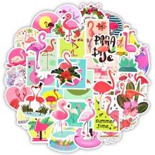 Autocollants en flamants roses pour filles, joli rêve, animal en dessin animé, pour Mac bricolage bagages, guitare, décalcomanies dordinateur portable, 50 pièces