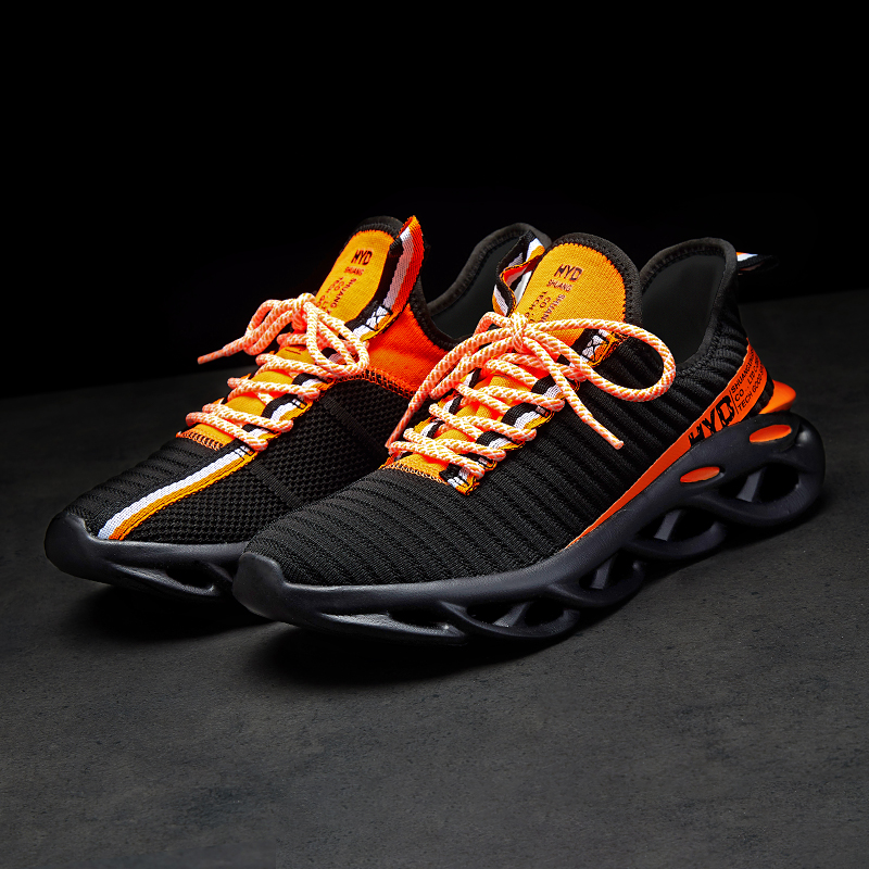 Hda7b777ef2b148c98f78f22ec50853971 Summer Trend Style Men's Casual Shoes 2019 New Fashion Breathable Mesh Light Personality Sneakers Flying Weaving Tenis Masculino