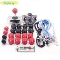 Arcade Joystick DIY Kit Zero Delay Arcade DIY Kit ps 2 USB Encoder To PC Arcade Sanwa Joystick Sanwa Push Buttons For Arcade