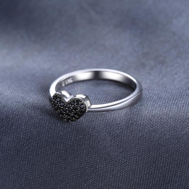 Black Heart Spinel Ring