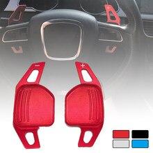 Para Audi A1 A3 A4 A5 A6 A7 A8 Q5 Q7 TT S3 S4 S5 R8 12-16 coche accesorios de aluminio volante paleta de extensión de la palanca de cambios de turno