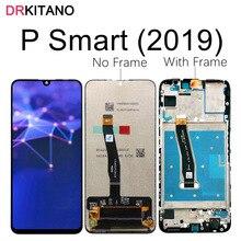 Tela drkitano para huawei p smart 2019, display lcd, touch screen, vaso, lx1, lx2, lx3 p, display inteligente 2019 com substituição de quadro
