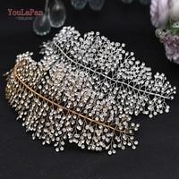 TOPQUEEN HP258 Luxury Crystal Wedding Headband Handmade Rhinestone Bridal Headpieces Wedding Hair Jewelry Headband Accessories 1