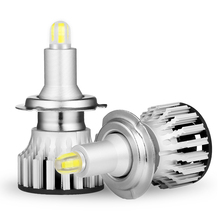 2 قطعة H1 H7 H8 H9 H11 LED لمبات سيارة المصابيح الأمامية HB3 9005 HB4 9006 3D LED في Canbus 360 درجة 6000K 18000LM السيارات ضوء 12V