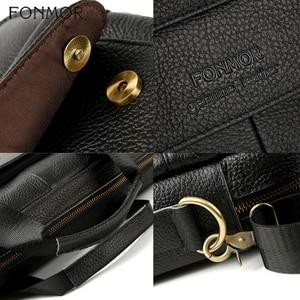 Image 5 - Fonmor Genuine Leather Handbags Men Briefcase Business Computer Crossbody Bag Messenger Shoulder Bags Male Laptop Tote Portfolio