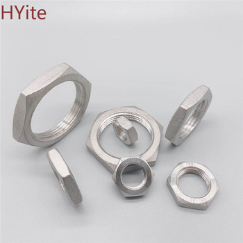 Pipe Fitting Stainless Steel ss 304 Hex Nuts Hex Nuts 1/8 1/4 3/8 1/2 3/4 1 1-1/4 1-1/2 BSP ps2705 1