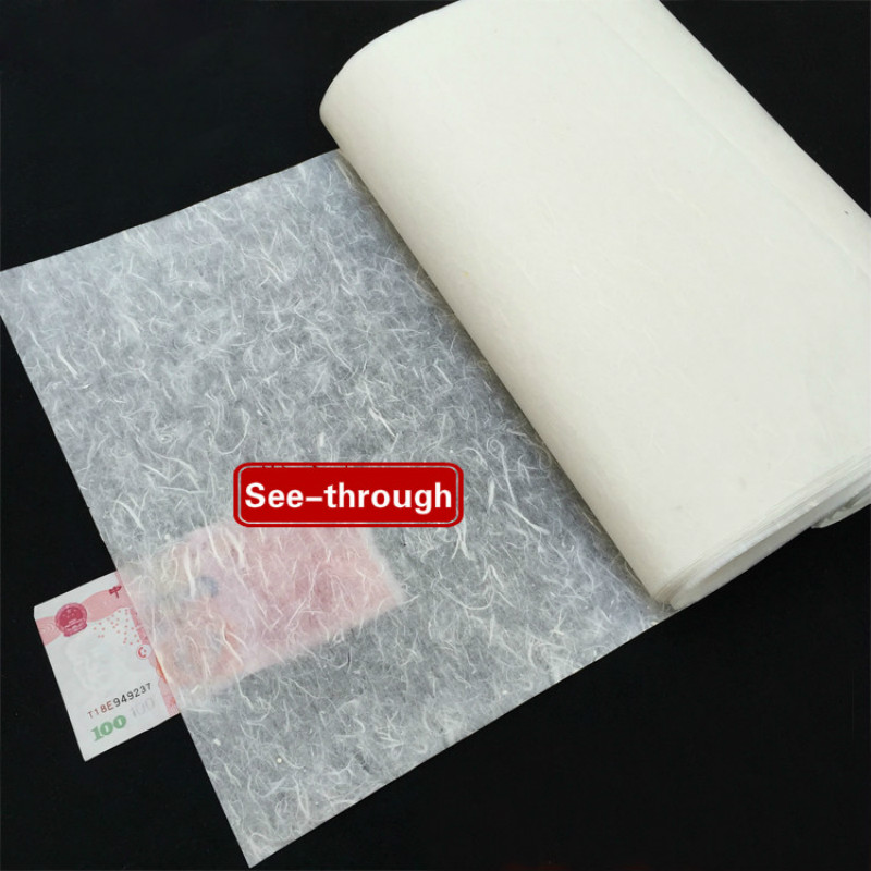 10sheet Chinese Xuan Paper See-through Chinese Calligraphy Painting Paper Mulberry Long Fiber Lantern Rice Paper Rijstpapier