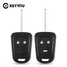 KEYYOU 2/3 Buttons Car Remote Key Shell Fob Case For Chevrolet AVEO Cruze For Opel Malibu Sonic Replacement HU100 Key Blade