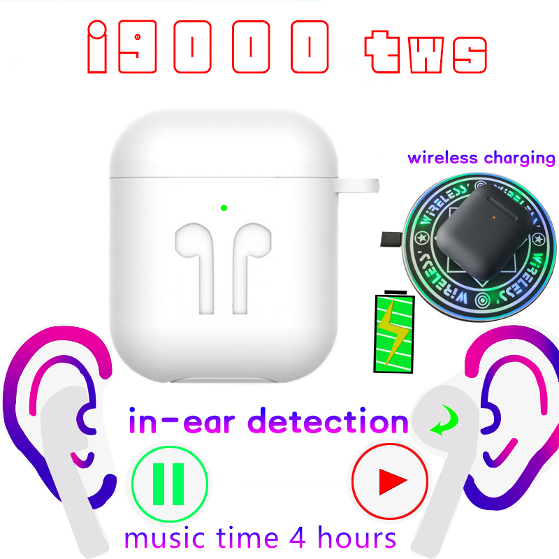 I9000 Tws 1:1 Replica Aire 2nd Bluetooth Earphone Tap Control Earbuds Wireless Headset PK I10 I12 I500 Fone De Ouvido Bluetooth