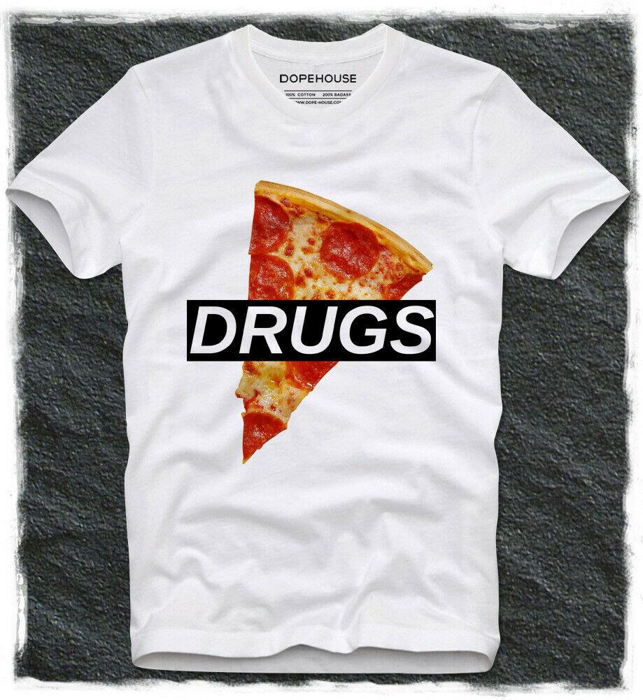 Футболка с принтом пиццы лекарств Hpister фигуристки фаст-фуд Swag Tumblr Веселая забавная