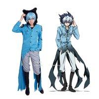 Anime Servamp Sleepy Ash Kuro Vampire Black Cat Coat Top Pants Uniform Outfit Cosplay Costumes