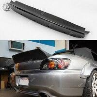 For S2000 AP1 AP2 RB Style FRP Fiber Glass Wide Rear Duckbill Spoiler For Honda Fiberglass Trunk Wing Lip Trim Body Kit