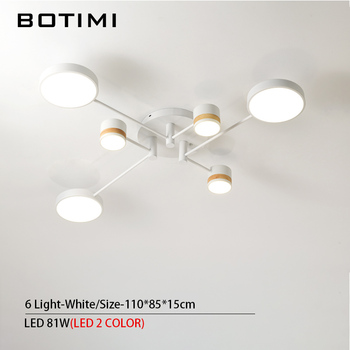 BOTIMI Home Decor LED Ceiling Lights For Living Room Round Metal Ceiling Lamps Surface Mounted Dining Lustres Bedroom luminaires 15