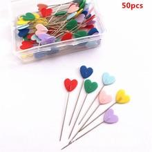50 Uds alfileres del remiendo de los botones agujas flor coser Pins DIY Crafts con 6 tipos disponibles DIY ropa coser Pins