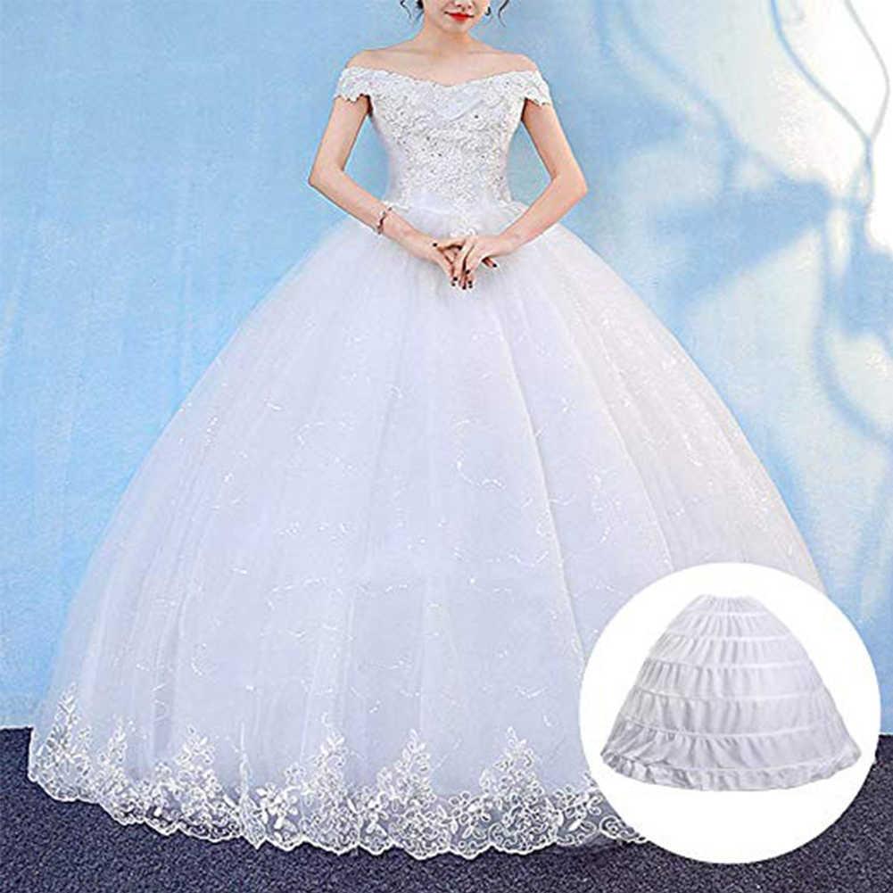 2019 branco novo 6 hoops petticoats bule para vestido de baile vestidos de casamento underskirt acessórios nupcial crinolines 2019