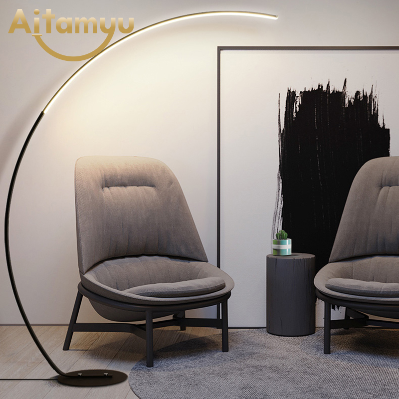 คอลัมน์ Led โคมไฟโมเดิร์นโคมไฟยืน Simple โคมไฟสำหรับห้องนั่งเล่น Foyer ข้างโคมไฟ 25W ชั้น Light fixture