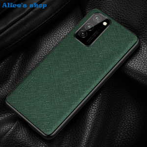 Image 2 - Fashion Cross Genuine Leather & TPU Back Case For Honor View30 V30 Pro Luxury Slim Shockproof Cover Case For Honor View 30 Pro