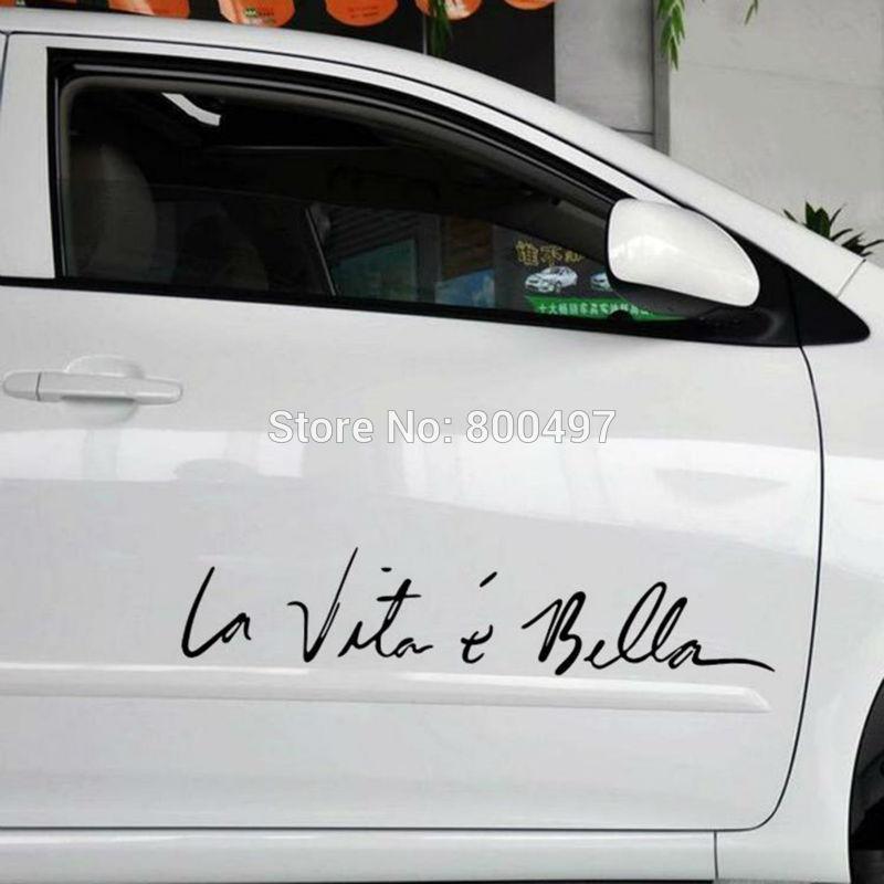 Funny Sticker Life Is So Beautiful La Vie Est Si Belle Car Sticker Auto Decal Car Accessories for Tesla Bentley Jaguar Volvo