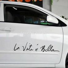 Pegatina divertida para La vida es bonita, La Vie Est Si Bella, accesorios para coche, Tesla, Bentley, Jaguar, Volvo
