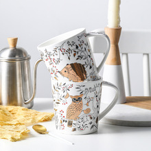Creative Cartoon Coffee Mugs Matte Breakfast Cup Milk Mug Teacher Gifts Appreciation Eco Friendly Coffee Mugs moomin cartoon mug snorkmaiden snufkin little my sniff the snork stinky mymble caneca coffee cup muumi child gifts