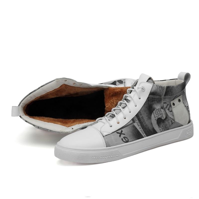 2019 Full Grain Leathe Men's Winter Shoes Size 38-46 Warm 2019 Comfortable Non-Slip Men Boots #FJH5299