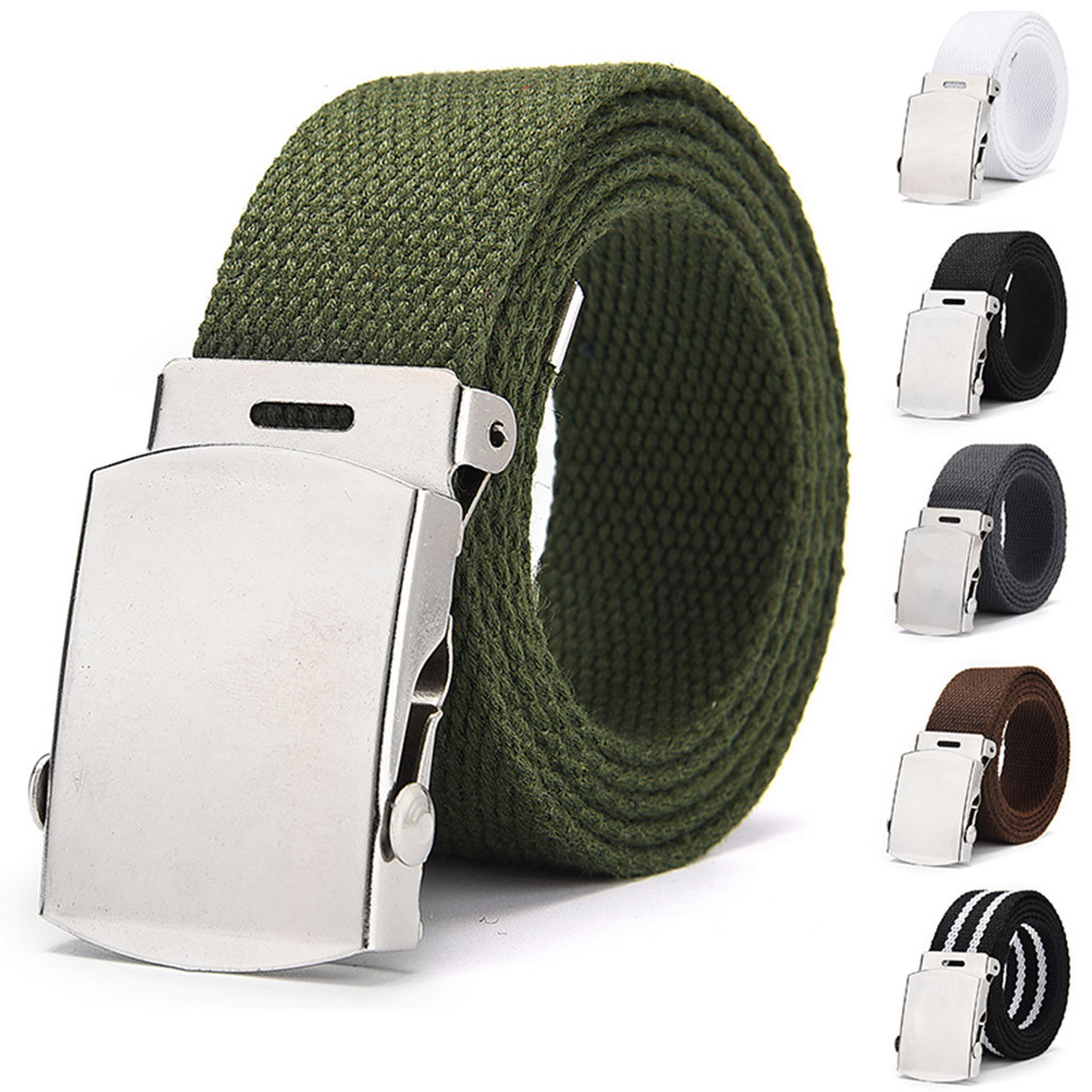 Mens Belts Fashion New Unisex Trousers Belts Canvas Belt High Quality Outdoor Tactical For Jeans Adjustable Waist Belt New #L20
