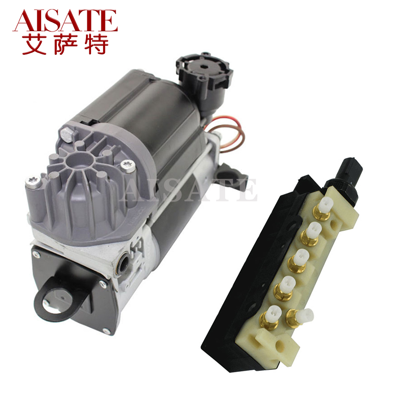 Airmatic Air Suspension Compressor Pump w//Solenoid Valve Block Compatible with Mercedes Benz W220 W211 W219 S211 2203200104 2113200304