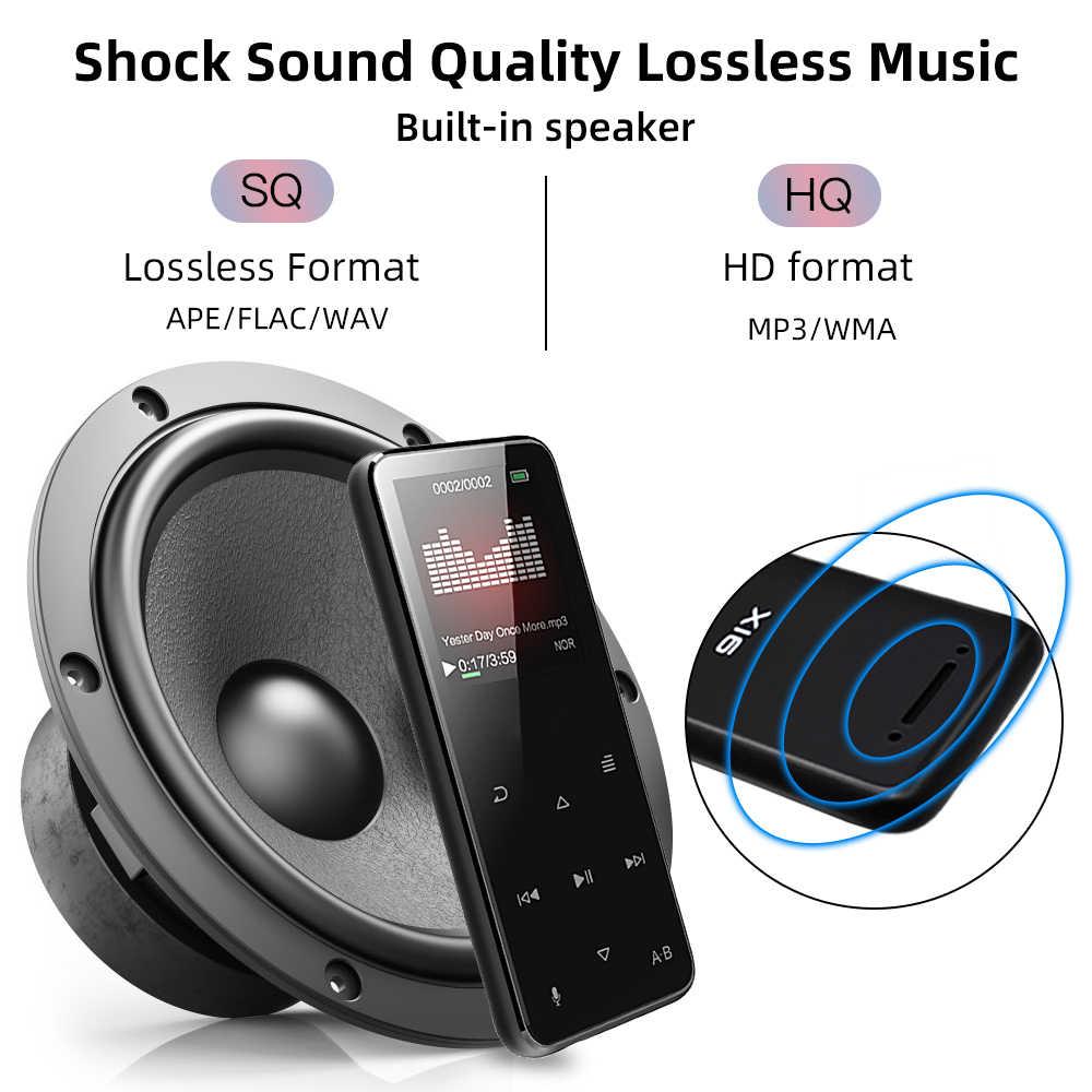 Deelife Sport MP3 odtwarzacz Bluetooth do bieganie z odbiornik radiowy FM głośnik 8GB sportowe MP 3 odtwarzacze muzyki