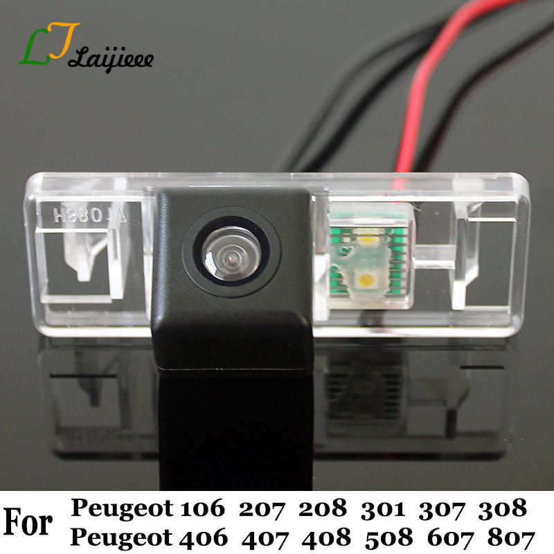 For Peugeot 106 207 208 301 307 308 406 407 408 508 607 807 Car Rear View Camera   With Relay HD Night Vision Reversing Camera