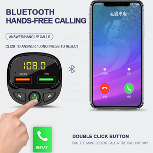 Image 5 - QC 3.0 çift USB şarj araba Bluetooth 5.0 Fm verici MP3 çalar araç kiti TF kart araba hızlı şarj adaptörü Handsfree çağrı