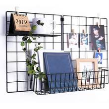3 stück Hängenden Korb Gerade Regal Blumentopf Display Halter für Draht Wand Gitter Panel, Brot Korb Eisen Rack