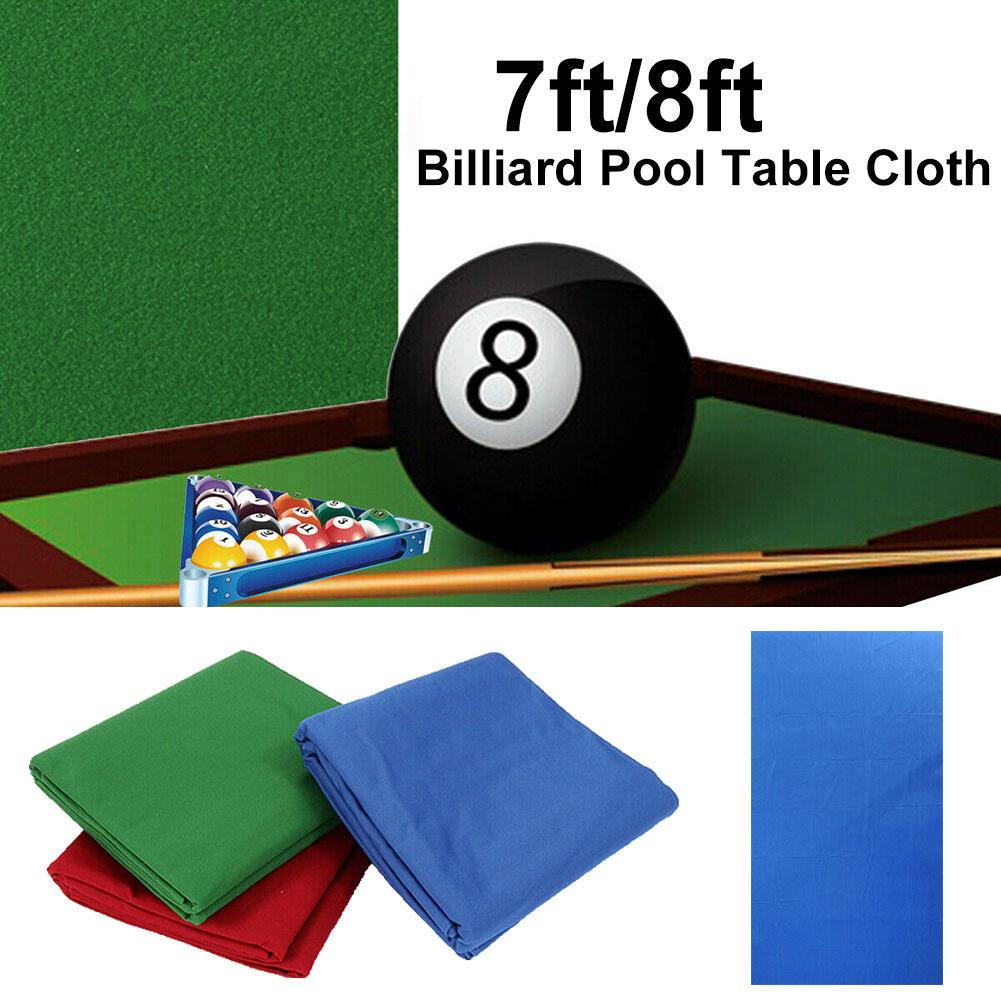 Professional Green/Blue/Red/Cyan Green Snooker Billiard Cloth Pool Billiard Table Cloth Mat Replacement Felt Cover For 7/8ft