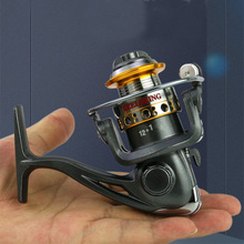 Mini Fishing Reel Saltwater Freshwater 5.2:1 Metal Spinning Seat Handle Ball Bearings Boat Stream