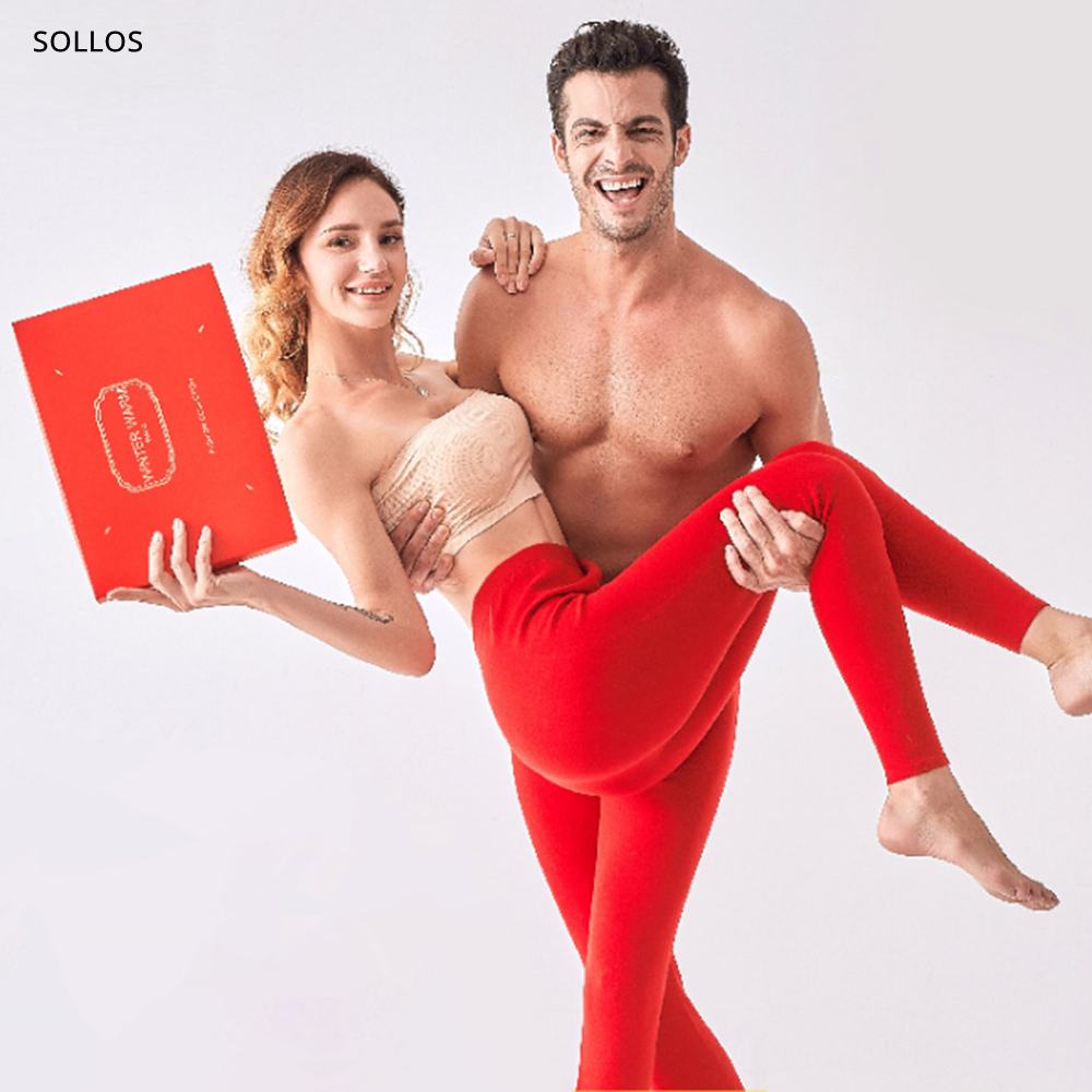 couple red merino wool leggings men underwear women thermos thermal clothes sexy mens long johns thermo clothing warm pants gay