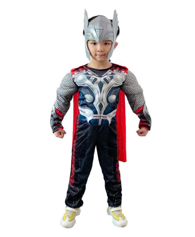 Фильм Super hero завершающей костюм Тора для маленьких мальчиков Детский костюм для хеллоуина Super hero вечерние Необычные одеваются Детский Super Hero...