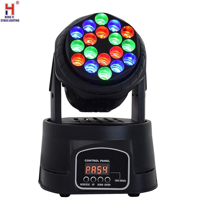 Движущийся луч вечерние светильник 18x 3W RGB светодиодный движущийся луч светильник DMX профессиональный сценический светильник подходит для