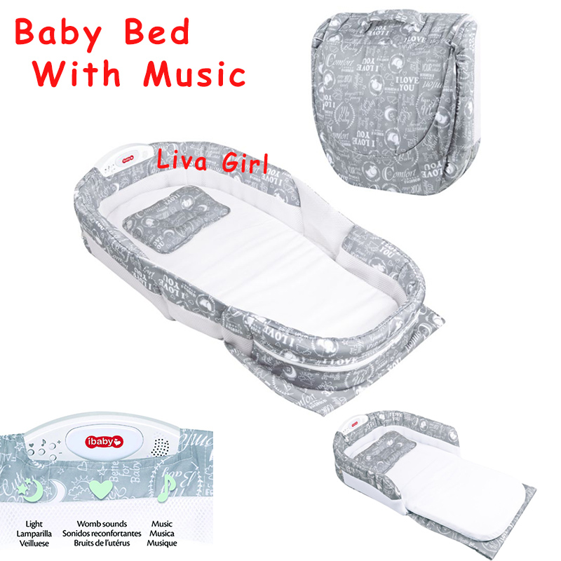Portable Baby Bed With Light Music Multi-function Infant Kids Baby Separated Bed Baby Sleep Travel Baby Bed Crib Mattress