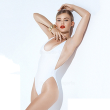 swimwear 2019 brazilian high waist bikini sexy Backless Push Up Deep V Neck Pure color womens swimsuit