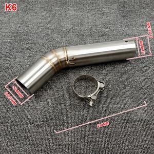 Image 4 - K6 GSXR 600 750 GSXR700 GSXR750 Motorcycle Exhaust Muffler Middle Link Pipe Tube Slip On For Suzuki GSX R600 R700 R750 K6 K7 K8