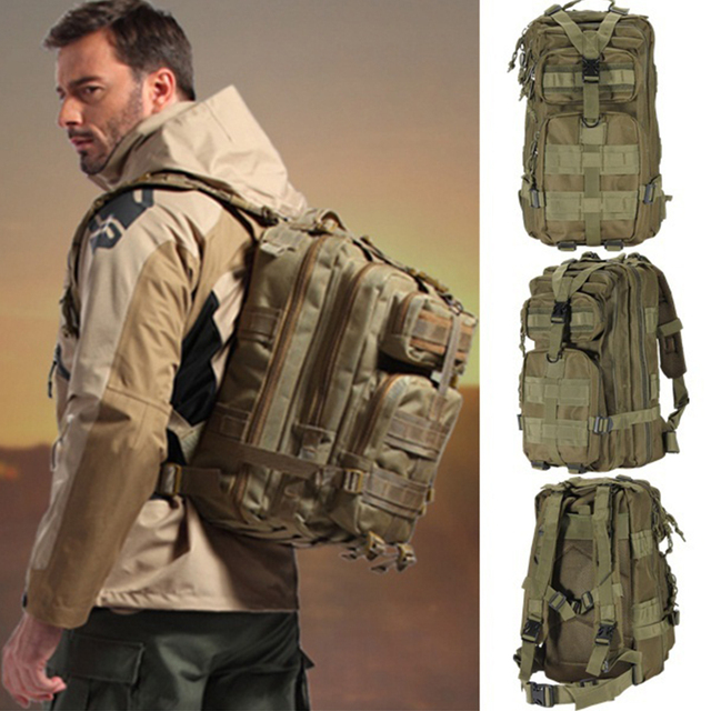 Outdoor Military Rucksacks 1000D Nylon 30L Waterproof Tactical backpack Sports Camping Hiking Trekking Fishing Hunting Bags 6