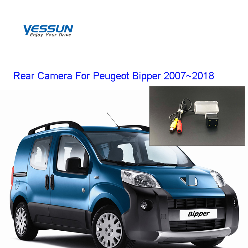 Yessun License Plate Rear View Camera 4 LED Night Vision 170 Degree HD For Peugeot Bipper 2007~2018