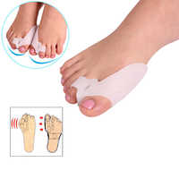 2 uds = 1 par de silicona Gel juanete dedo del pie separador de esparcidor alivia el dolor de pies halux Valgus de pie de corrección de pedicura de masaje herramientas