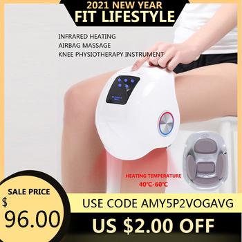 Inteligentny masaż kolana Laser podgrzewany masaż powietrza kolano fizjoterapia Instrument masaż kolana rehabilitacja ulga w bólu masaż nóg tanie i dobre opinie abay CN (pochodzenie) Masaż i relaks Materiał kompozytowy Nogi