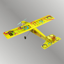 Aircraft model of light wood fixed wing aircraft with remote control   4