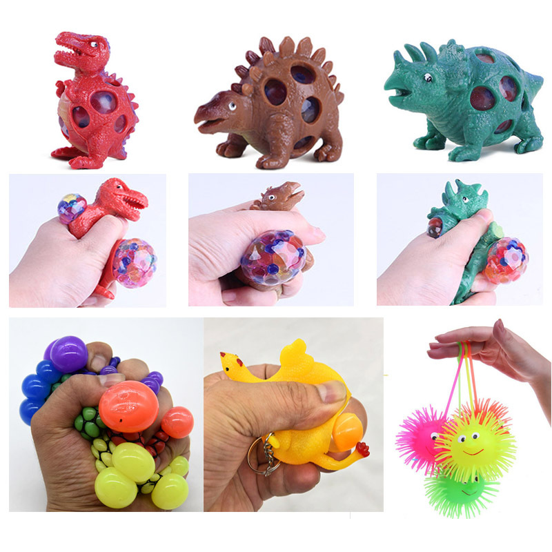Dinosaur Vent Ball Grape Ball Squeeze Layer Chicken Under Layer Pinagle Novel Creative Decompression Squeeze Ball Toy