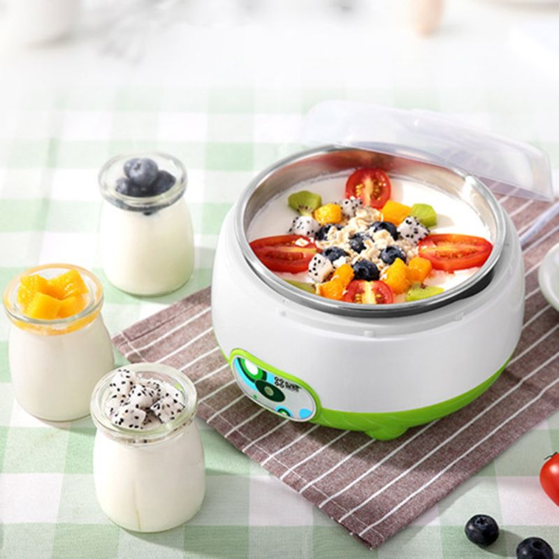 220V 1L Automatic Electric Yogurt Maker Machine With 3 100ml Yogurt Containers Glass Jars DIY Appliance