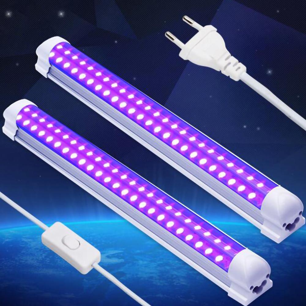 Tube Blacklight 10W Ultraviolet Lamp Usb UV Light Quartz Germicidal Lamp UVC Ozone Sterilizer Light Kill Mites Bulb 110V 220V