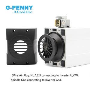 Image 5 - Neue Ankunft! 4,5 kw ER32 luftgekühlten spindel motor 220v/380v platz spindel Keramik kugellager spindel 0,01mm genauigkeit