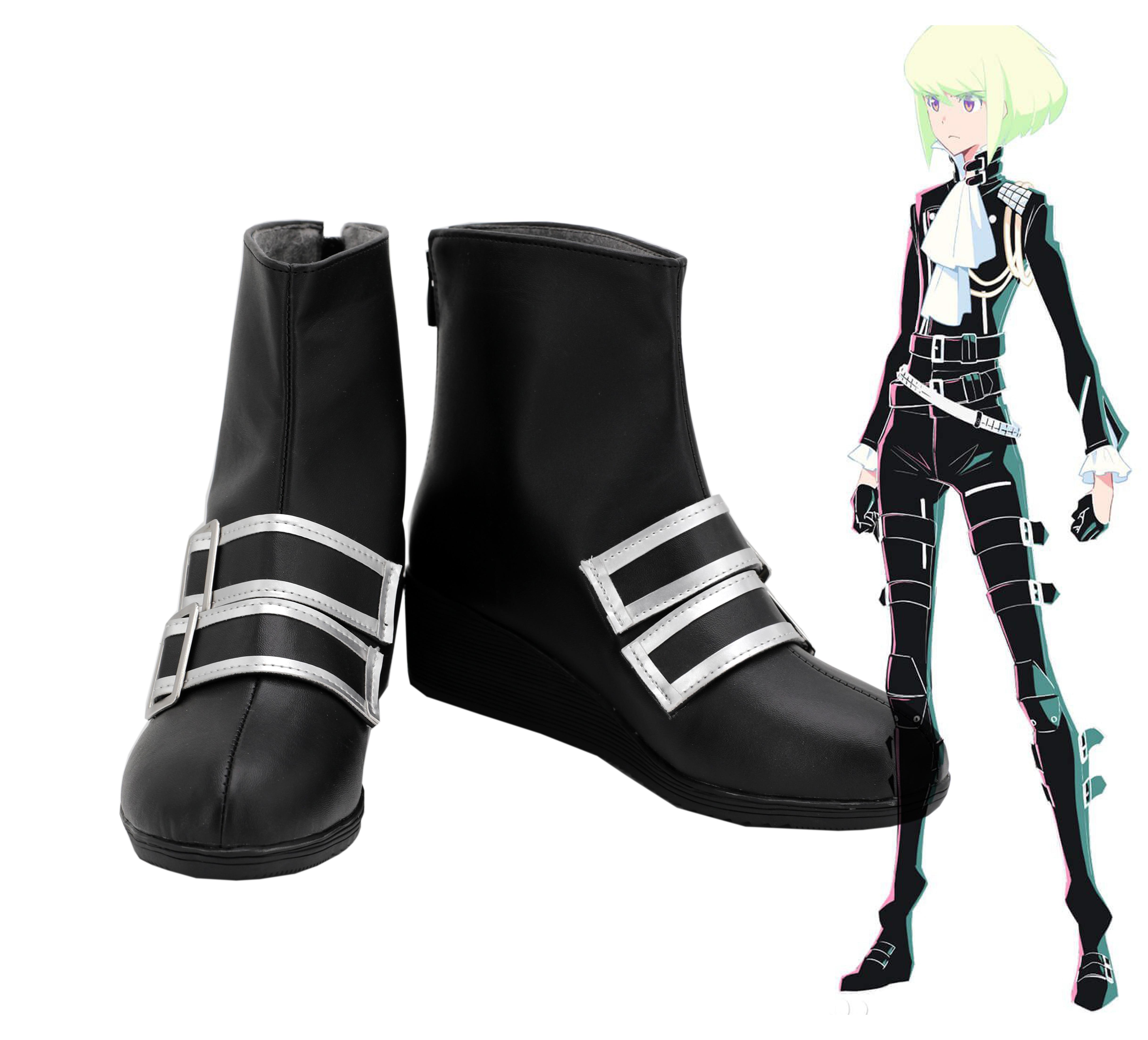 Personalizza promare GALO thymos Scarpe Uomo Nero Stivali Scarpe Stivali COSTUME COSPLAY