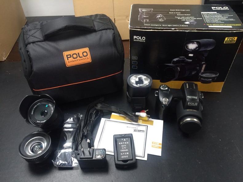 PROTAX/polo Digital Camera 3.0 13MP FHD SLR Half-Professional 24x Telephoto Wide Angle Lens sets 8X Digital Zoom Cameras Focus